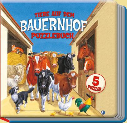 Tiere auf dem Bauernhof Puzzlebuch