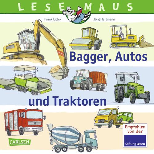 LESEMAUS - Bagger, Autos und Traktoren